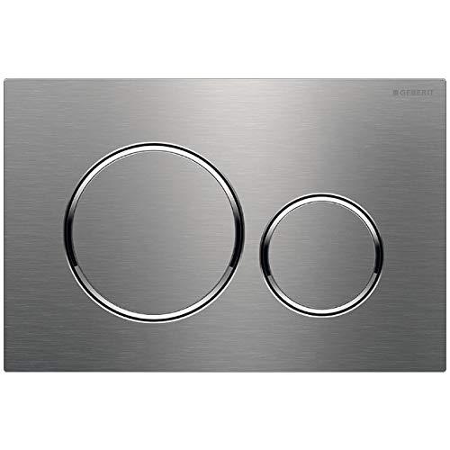 Geberit 115.882 Sigma 20 Dual Flush 1.6 / .8 GPF Actuator Plate, Stainless Steel