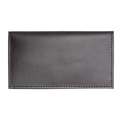 hunter-allen-textured-bison-leather-checkbook-cover-dark-brown