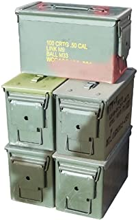 product image for M2A1 .50 Cal Ammo Cans (5 Pack)