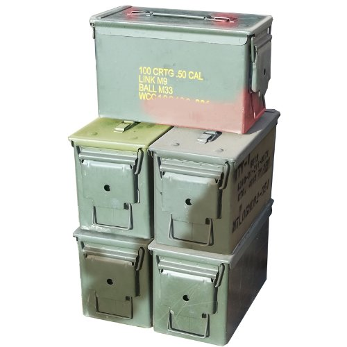 M2A1 .50 Cal Ammo Cans (5 Pack) 50 Cal Ammo Types