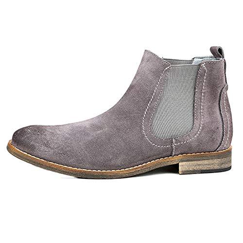 Vintage Stivali Brogue Boots Classico Cowboy Stivali da Nero Pelle Stivaletti Gray Oxblood Pelle Chelsea Moda Uomo in Martin Desert Fwqzf