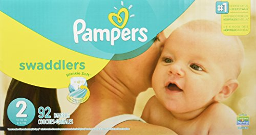 Pampers Swaddlers Disposable Diapers Size 2, 92 Count, SUPER