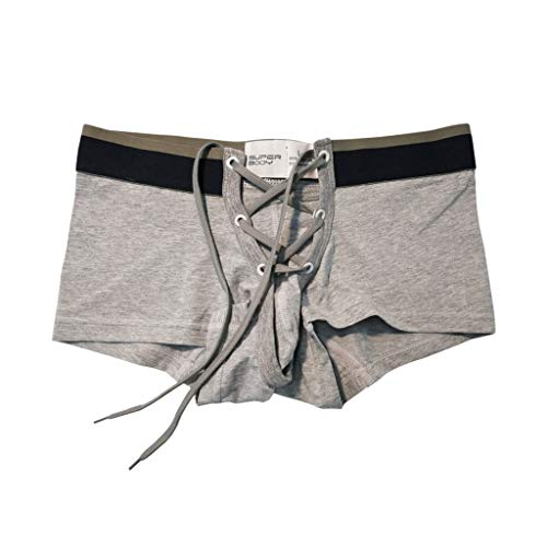 iYYVV Men's Brand Sexy Print Cotton Soft Breathable Pouch Boxer Underpants Underwear ()