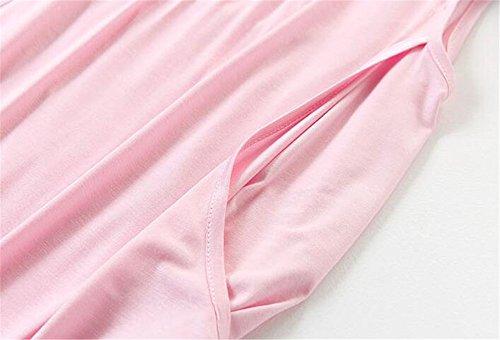 Casual Camicetta Maglietta T Maniche L'allattamento Tops Elegante Breastfeeding Estivi Gravidanza Ailient Infermieristica Canotta Senza Rosa Donne Allattamento shirt wgq14SO