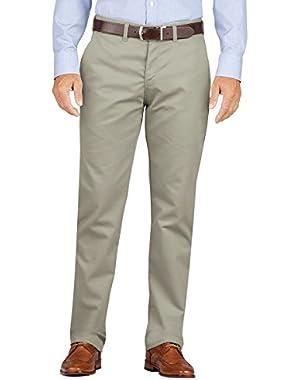 KHAKI Men's Flat Front Pant - Slim Taper Fit