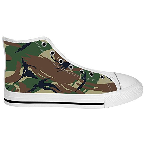 Custom Camouflage Womens Canvas shoes Schuhe Lace-up High-top Footwear Sneakers C