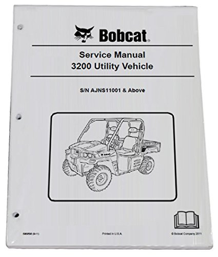 Bobcat 3200 Utility Vehicle Workshop Repair Service Manual & Operation Maintenance Manual - Part Number # 6989598 & 6989597