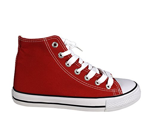 Peach Couture High Top Casual Sneakers Shoes Red 10 B(M) US by Peach Couture (Image #1)