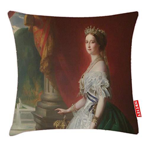 NBTJZT Imperatrice Eugenie De Pillow Cover Standard Throw Pillowcase 18X18 Inch