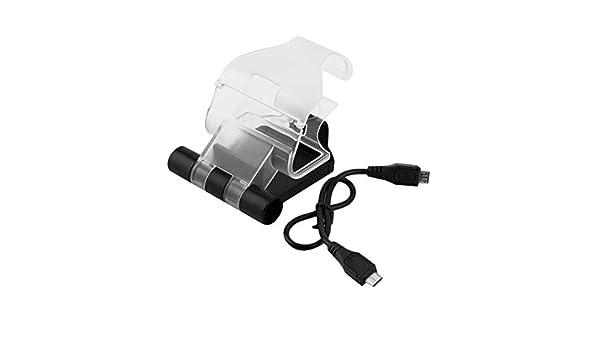 Soporte de Abrazadera de Clip Inteligente para teléfono móvil para Playstation 4 para PS4 Game Controller Stand Holder con Cable Negro WEIWEITOE: Amazon.es: Electrónica