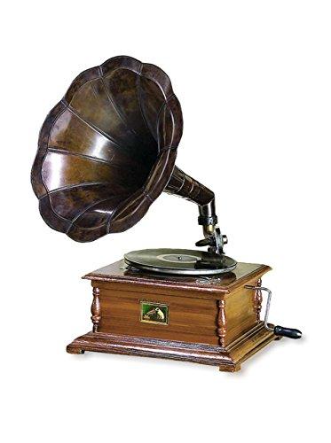 Benzara Wood and Metal Gramophone