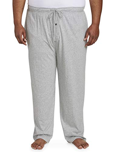 Amazon Essentials Men's Big and Tall Knit Pajama Pant fit by DXL, Light Gray Heather, 2X