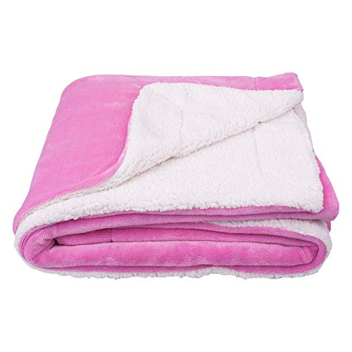 "SOCHOW Sherpa Fleece Throw Blanket, Double-Sided Super Soft Luxurious Plush Blanket 60""×80"", Pink"