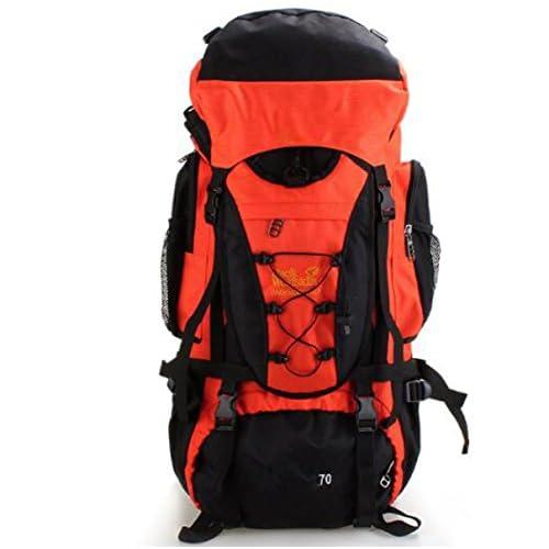 LWJH Travel Hiking Camping Rucksack Backpack Holiday Bag Bag Bag,Orange