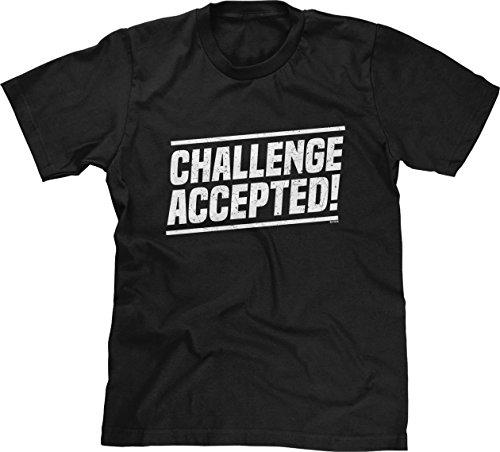 Blittzen Mens Challenge Accepted, L, (Lily Himym Halloween)