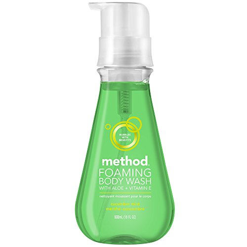 Method Naturally Derived Foaming Body Wash, Cucumber Mint, 18 Ounce