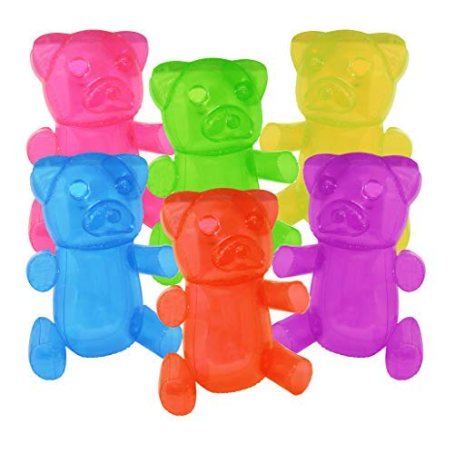 """SNInc. 24"""" Inflatable Gummy Bears Fun Party Decoration in Assorted Random Colors (Pack of 3 Bears)"""