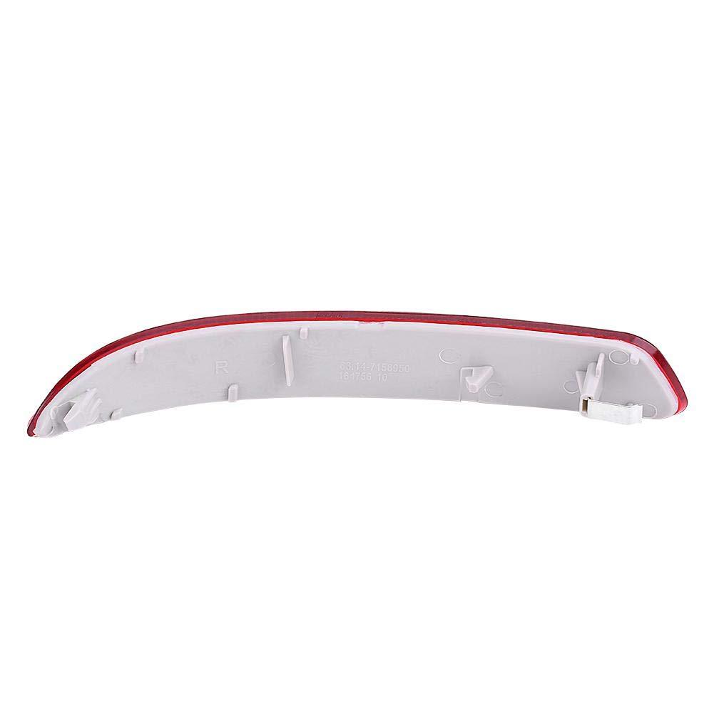 Reflector de Parachoques Trasero Impermeable Izquierdo y Derecho 63217158950 para E70 X5 2007-2013 63217158949 Reflector de Parachoques Trasero