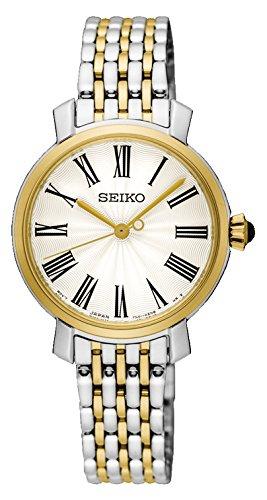 Seiko Reloj Analógico para Mujer de Cuarzo con Correa en Acero Inoxidable SRZ496P1