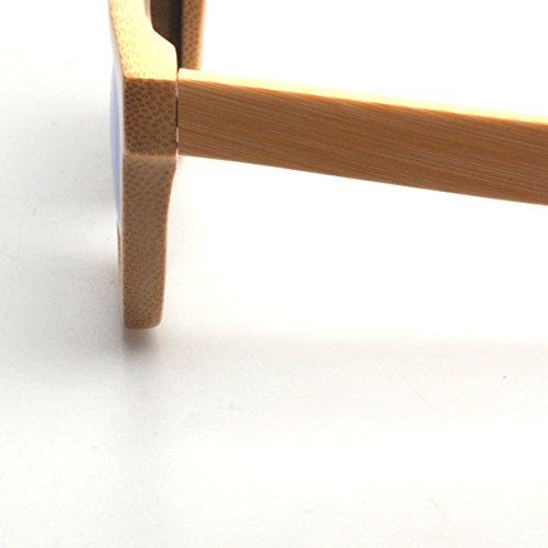 Artesanal madera sol de de verde natural polarizado bambú de lente gafas Marcos rwPrUCq