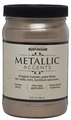 Rust-Oleum 253601 Metallic Accents Paint, Quart, -