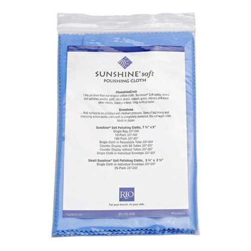 5 Individually Packaged and Sealed Sunshine Blue Soft Polishing Cloth Jewelry Polisher brass gold silver Rio Grande