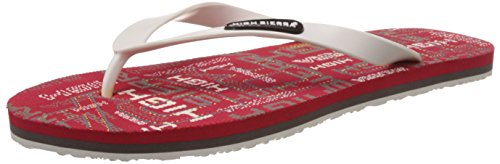 High Sierra Men's Red and White Flip-Flops and House Slippers - 9...