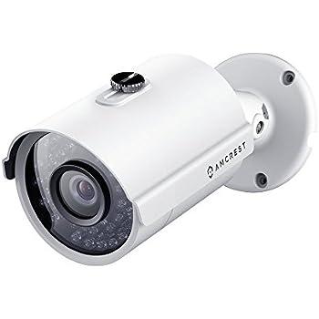 Amcrest ProHD Outdoor 4 Megapixel POE Bullet IP Security Camera - IP67 Weatherproof, 4MP (2688 TVL), IP4M-1025E (White)