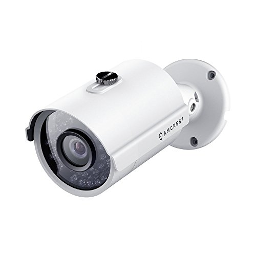 Cameras Surveillance Analog (Amcrest Full HD 1080P 1920TVL Bullet Outdoor Security Camera (Quadbrid 4-in1 HD-CVI/TVI/AHD/Analog), 2MP 1920x1080, 98ft Night Vision, Metal Housing, 3.6mm Lens 90° FOV, White (AMC1080BC36-W))