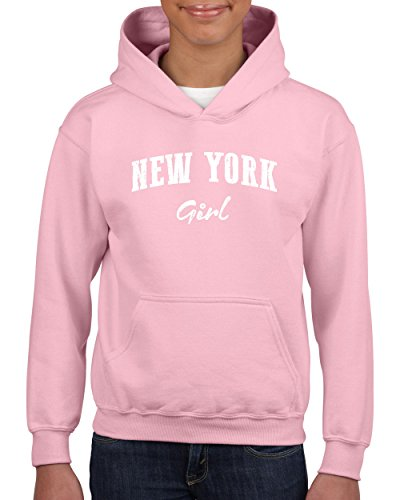 NY Girl New York City Hotels Map Tickets Brooklyn Manhattan Times Square USNY Youth Hoodies - Kids Times Square