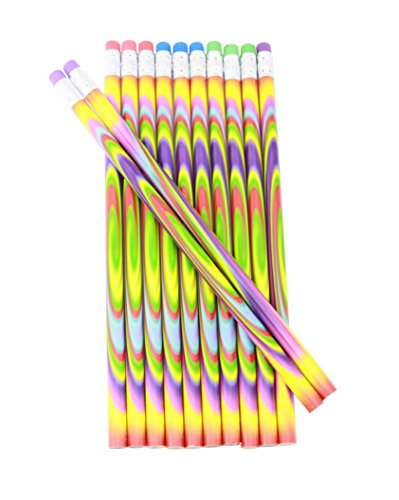 Colorful Tie Dye Pencils For School Supplies And Classroom Rewards - 24 Pencils Photo #2