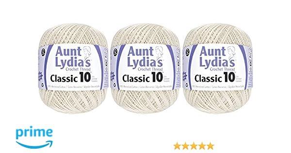 Coats Crochet Aunt Lydia/'s Classic Crochet Thread Size 10 Jumbo-Natural
