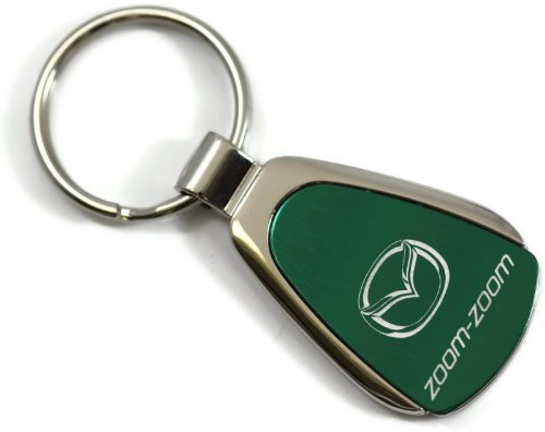 Mazda Zoom Zoom Green Teardrop Key Fob Authentic Logo Key Chain Key Ring Keychain Lanyard