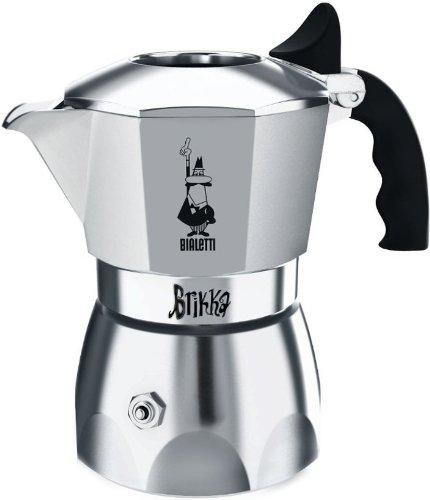(Bialetti 06835 Brikka Stovetop Espresso Maker, 4-Cup)