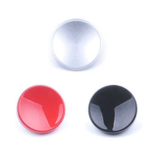 (3 Pack) VKO Soft Metal Shutter Release Button Brass Compatible for Fujifilm X-T3 X100F X-T20 X-PRO2 X30 X100T X100S X-E2 X-E2S X-T10 X-T2 RX10 II III IV Camera Black Red Silver 11mm Concave Surface