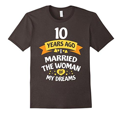 Mens 10 Years Anniversary Gift Idea for Him Ten Large Asphalt
