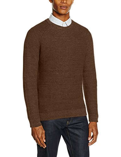 Shhrolf Neck Homme Para Marrón Suéter Selected Crew Hombre dachshund 5tAOnXq