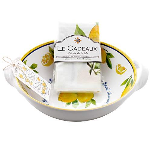 Le Cadeaux Palermo Lemon Basil Melamine 9.25