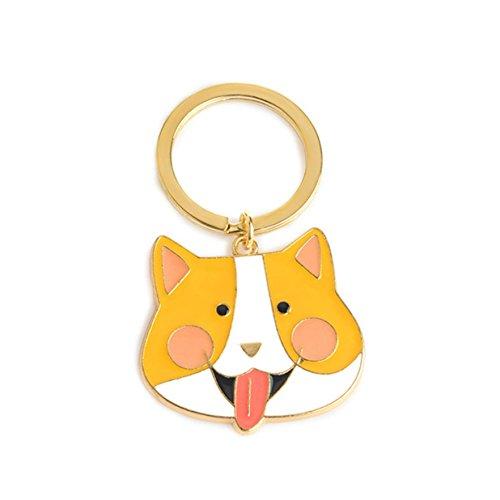 (1 Pc Mini Pocket Dog Black Cat Polar Bear Crocodile Fox Keychain Keyring Keyfob Animal Corgi Bulldog Puppy Pet Keys Chains Rings Professional Popular Cute Wristlet Utility Keyrings Tool, Type-03)