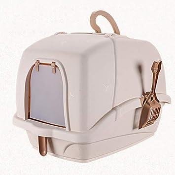 QNMM Caja De Arena Higiénica para Gatos Totalmente Cerrada, Respetuosa con El Medioambiente. Baño para Gatos, Respirable, Ecológico Y Duradero.