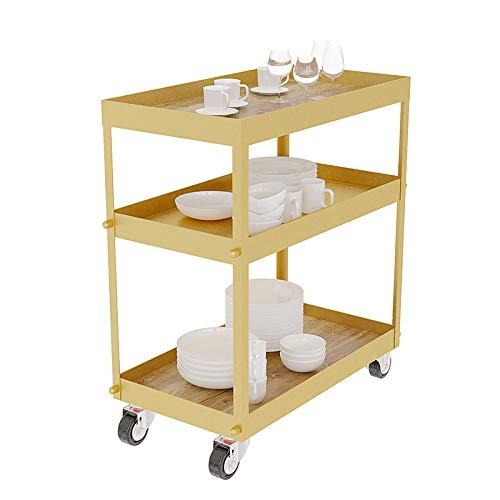 Trolley de Almacenamiento con Ruedas 3 Niveles Cocina de Mesa de ...