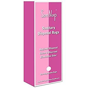 SanNap Sanitary Napkin Disposal Bags 40 Intimate Disposable Bags for Sanitary Pad/Tampons (Pack of 40)
