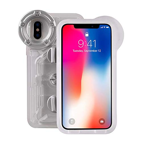Underwater Case Pack - Underwater Photography Waterproof Phone Case Pouch for iPhone X/XS Enhanced Underwater Cell Phone Dry Bag with Armband O Lens Ring Full Sealed Waterproof Case IPX8 Certified