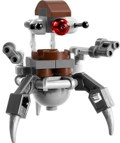Lego Star Wars Destroyer Droid - Lego Star Wars Droideka Destroyer Droid Minifigure (2013) (Ships Unassembled) by LEGO