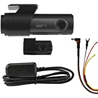 LG Innoteks Sleek LGD323 128/120 Degree Front & Rear Dashcam with GPS Antenna & Battery Protecting Hardwire Kit. 64GB