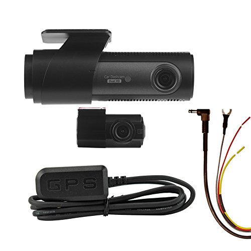 LG Innotek's Sleek LGD323 128/120 Degree Front & Rear Dashcam with GPS Antenna & Battery Protecting Hardwire Kit. 64GB