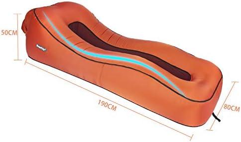 BEAUTRIP Tumbona Inflable para Interiores y Exteriores, Ideal para sofá Cama Hinchable, para Patio, Playa, Viajes, Camping, Senderismo, picnics y ...