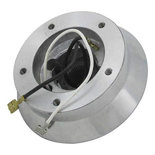 (Steering Wheel Hub Adapter 5 Bolt Polished Aluminum Fits Peterbilt & Kenworth)