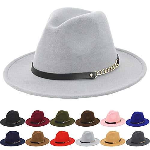 Jual Guoo Women s Fedoras Belt Buckle Fedora Panama Hat -  79c4daf96206