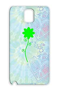 Shockproof Animals Nature Blackcat2 Flower Blossom Protective Case For Sumsang Galaxy Note 3 Green Flower